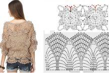 gráfico de blusas de crochet ou tricot