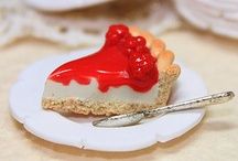tutorials: food (cheesecake) / Tutorials for dollhouse scale 1/12 cheesecake