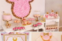 Minnie mouse / Minnie mouse themed party decorations #birthday #birthdayparty #birthdaygirl #birthdaycake