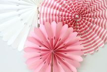 Pink Paper Crafts / A collection of pretty pink paper crafts