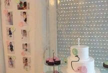 My Baby 1. birthday / My baby girl 1. birthday party, DIY decor, mint-pink-gold