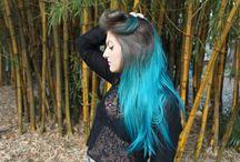 Rafaela Meneguelli || #TurquoiseHair / Colored Hair