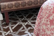 FLOORS- PAINTED OR STENCILS / by Phyllis Closser
