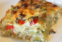 Tortini, sformati, lasagne