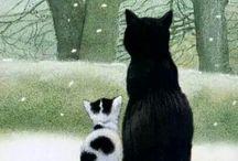 gatti illustrati