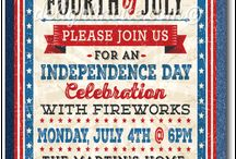 July 4th Party Invitations! / Looking for a fantastic patriotic theme invitation for your upcoming July 4th celebration? We have the most amazing assortment of hand-made 4th of July invites that are perfect for your Independence Day party! Made in America on 100% recycled card stocks, these July 4th designs are truly stunning in person!