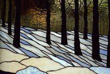 Tiffany landscape