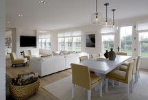 Open plan kitchen living dining onto garden