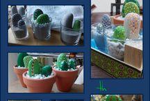Propios-Own crafts / #crafts #cactus #cacti #painted_stones Manualidades propias, handmade, piedras pintadas