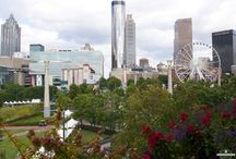 JB Fuqua Rooftop Pavillion / Metro Atlanta Chamber rooftop pavillion featuring panoramic views of Centennial Olympic Park and the downtown Atlanta skyline