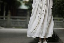 Off white linen maxi dress