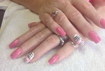 My nails / Hearty zebra!!! Love it