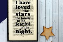 Stars / Star charts, star quotes, celestial inspired gifts.