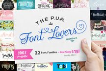 The PUA Font Lovers Bundle / Our highly anticipated font bundle is here!! The PUA Font Lovers bundle includes 47 fonts from 22 beautiful font families, in a wide range of styles for all your creative projects!  As they're all fully PUA-encoded, fonts are 100% accessible for you to work without any restrictions on design and craft based softwares including Silhouette, Cricut, Make the Cut, CorelDraw & more!  Grab your copy now for ONLY $15 — that's a huge savings of $309!!