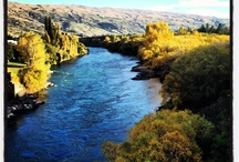 Roxburgh, New Zealand / Roxburgh lies alongside the Clutha Mata-Au River in the beautiful Teviot Valley, it's lake created the Roxburgh Dam, commissioned in 1956.