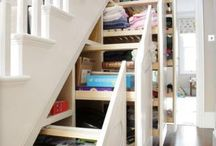 Understairs Storage Ideas / Ways to organise the space under your stairs with storage and design ideas and inspiration