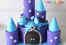 Cakes - Castles and dragons theme