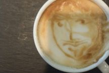 Art coffee latte art / Haladok