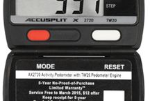 """Certified Accurate Pedometers / Certified Accurate for Research Pedometers Easy to use Accelerometer """"Steps Only"""" Pedometer.    Our New low power Accelerometer with PedometerEngine™ TW20 Step Counter to 100,000 Accurate Step Count at every angle of Tilt! Over 1-year battery power.  Sleep Mode: After 5 minutes of no activity 5 second Display Accuracy Filter prevents recording false steps Ultra Thin Black case Magnum display digits for easy viewing ACCUSPLIT's 5-Year Dual, No Proof, and Proof of Purchase Limited Warranty"""