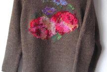 bordado sobre sweter