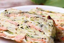 Zuchini Lachs Lasagne
