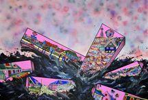 Paintings 2014 / Contemporary Art. www.metterishoj.dk Facebook: 'Mette Rishoj'