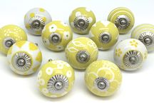 Bring in the Sunshine! / Brightly coloured original ceramic door knobs by These Please