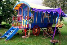 Life in my purple caravan.