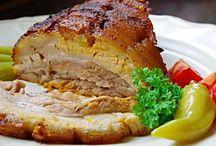 vepřové a uzené maso
