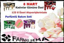 8 MART KADINLAR GÜNÜ / Kadınlar Gününe Özel 125 tl Üzeri Alışverişlerinizde Parfümlü Bakım Seti...Sadece 19.99 tl. www.farmasi.peacocksem.com