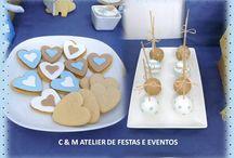 PEDRO BAPTISM - THE BLUE ELEPHANT / Design table - umdiadefesta ; Graphic design and party kit - Shop Decora a Festa ; Sweets and other food - Bolos e Bolinhos Atelier