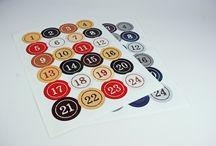 Etiketten auf Bogen / Ideen für Etiketten, Aufkleber und Sticker in verschiedenen Ausführungen und Formaten.