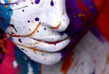 keys and splattering paint