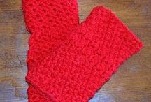 Crochet Fingerless Gloves/ Mitts / Wristers