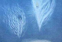 Sylphs - Sylphides / Paintings, illustrations and art about the Beings of Nature of the Air element (Spirits of Nature - Elementals - émanants, Sidhe, Petit Peuple): Sylphs, Sylphides, Vilas.