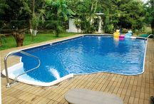 Grass to Swimming Pool Edge / Builds a Swimming Pool with a retractable Grass lid for multi-purpose use.