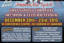 First Nations Christmas Art show & Cultural Festival 2015 / Major event in Nanaimo at the VI Convention Centre December 20TH-23RD @ The Vancouver Island Convention Centre all entertainment and entry just a Twoonie for more info visit www.facebook.com/firstpeoples or www.awakenthespirit.ca and pass the info on please or share our event poster Thank you.
