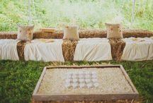 Weddings: Straw Bale Seating