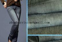 cotton elastic twill denim fabrics / supplier