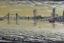 "The Joe Charman London Collection / Joe taught himself to paint when he was a young child and has not stopped painting ""his way"" since. He has explored a diversity of painting subjects throughout his life, but is best known for his large and panoramic paintings of London."
