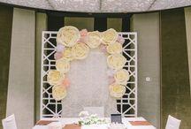 Real Wedding Backdrop
