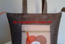 bag and purse / shopping bag felt