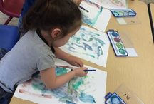 Water colors at First School Cathedral city / Water colors at First School Cathedral city