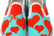 Wearable Art / Canvas shoe art design