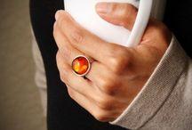 Semi-precious stone rings