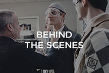 Behind the Scenes at Moncler Gamme Bleu / We bring you on the backstage of the Moncler Gamme Bleu Fall-Winter 2015/16 Show with designer Thom Browne / by Moncler