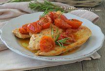 Petto di pollo e pomodorini