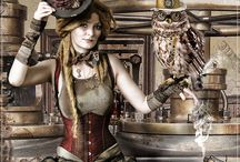 Steampunk and Goth / You can take the girl out of the Goth, but not the Goth out of the girl :D