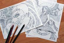 Birth and Pregnancy Coloring Pages / My Coloring books for pregnant woman and anyone who loves birth