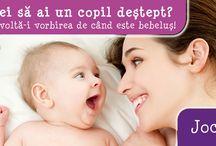 Dezvolta-i vorbirea de cand e bebelus / Vrei sa ai un copil destept? Dezvolta-i vorbirea de cand este bebelus! Cum? Luati exemplul jocurilor pe care le scriu mai jos, sunt orientative, doar trebuie sa va folositi imaginatia, timpul si buna – dispoziţie cu copilul dumneavoastra. http://jucarii-vorbarete.ro/jocuri-pentru-dezvoltarea-vorb…/